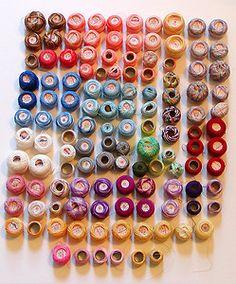 lot of 122 spools of tatting/crochet thread