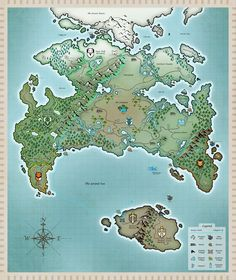 """Hit """"download"""" to see the full, enormous, gigantic, 4000x4750 version! This map of the Twokinds world, which I've been working off an on now for the last few months, has probably been one of my lar..."""