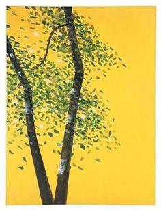 Birches by ALEX KATZ.