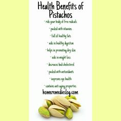 Look at everything pistachios can be doing for you!!! #natural #homeremedy #backtobasic #earth #organic #naturalmedicine #Healthy #health #skincare #simple #natural #nature #naturalsolutions #organic #foodie #foodismedicine #raw #crueltyfree #green #health #Healthy #fitness #easy #earth #nongmo #nochemicals #nodrugs #vegan #holistic #homeremedy  #superfood #food #foodismedicine #glutenfree #alternative #alternativemedicine