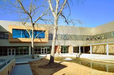 """Built by SHW Group in Spring, United States with date 2010. Images by Luis Ayala. What initially began as a """"repeat"""" school design resulted in one of the greenest elementary schools in the state of T..."""