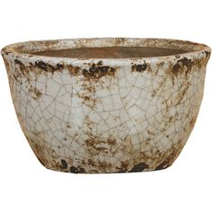 A crackled finish makes this traditional bowl a vintaged addition to your entryway or office. Set a natural moss ball inside for a topiary-inspired accent.