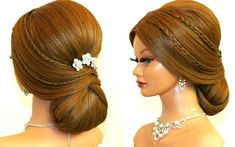 Bridal hairstyle for long hair tutorial. Romantic prom updo Bridal hairstyle for long hair tutorial. Prom Hair Medium, Up Dos For Medium Hair, Medium Hair Styles, Romantic Updo, Romantic Hairstyles, Prom Hairstyles For Long Hair, Up Hairstyles, Bridal Hairstyles, Long Hair Wedding Styles