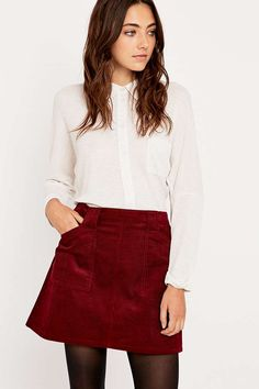 BDG Cord Utility Pelmet Skirt - Urban Outfitters