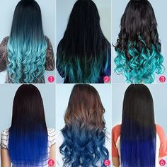 Top 5 Black Brown Hair Extensions with Blue Tips on blog.vpfashion.com ❤ liked on Polyvore featuring beauty products, haircare, hair styling tools, hair, beauty, hairstyles and hair styles
