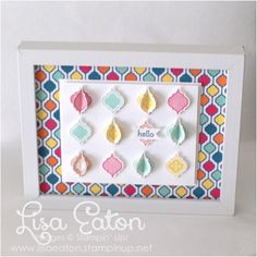 by Lisa Eaton RIBBA frame from IKEA | Quatrefancy Suite | Mosaic Madness | Mosaic Punch | Stampin' Up!