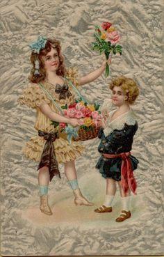 Vintage Postcard Greetings Embossed