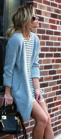 SN soft long cardigan with dropped looking shoulders - (the purse is not SN) - Free People