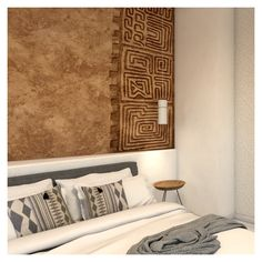 he headboards are embellished with engraved carvings, similar to the Cretan pot designs that are found in the area. Exterior Design, Interior And Exterior, Keys Hotel, Contemporary Building, Rustic Stone, Interior Concept, Architectural Elements, Headboards, Dining Area