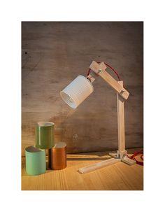 Lámpara escritorio bote tomate reciclado Lámpara por EunaDesigns