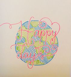 Happy Days papermate pens hand lettering | hellorouge.weebly.com | Hello Rouge Blog