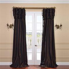 Exclusive Fabrics amp Furnishing PTCH Ruched Faux Silk Taffeta Curtain