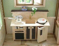*miniカントリーキッチン*の作り方|ドールハウス|アート・雑貨|作品カテゴリ|アトリエ