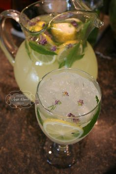 Classic Lemonade with Mint and Lavender. Perfect for a bridal/baby shower!