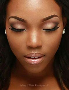 makeup makeup black women Trendy Wedding Day Makeup For Dark Skin Makeup, Nude Makeup, Flawless Makeup, Makeup For Brown Eyes, Gorgeous Makeup, Makeup Eyebrows, Eyeshadow Makeup, Wedding Day Makeup, Natural Wedding Makeup