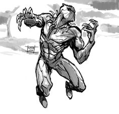 Brilliant Photo of Black Panther Coloring Pages . Black Panther Coloring Pages Black Panther Movie Coloring Pages Admirable Marvel Black Panther Comic Book Characters, Marvel Characters, Comic Character, Comic Books Art, Comic Art, Black Panther Drawing, Film Black Panther, Black Panther Marvel, Black Panthers