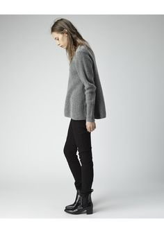 Acne Studios / Chunky Ribbed Knit Grey Pullover