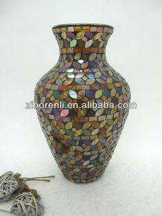 Padrão de Caixa de cobre Cor Mosaico De Vidro Grande Vaso de Flor-em Artesanato de vidro de Brindes e artesanato em m.portuguese.alibaba.com.