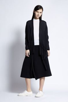 Kimi Knitted Cotton and Linen Cardigan in Black Cotton Bag, Cashmere, Normcore, Spring, Summer, Model, How To Wear, Collection, Black