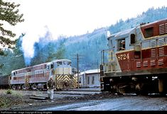 CP 8724 Canadian Pacific Railway CLC at Michel, British Columbia, Canada by Doug Wingfield Canadian Pacific Railway, Railroad History, Choo Choo Train, Southern Railways, Canadian History, Diesel Locomotive, Train Car, Photo Location, British Columbia