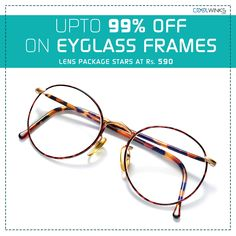 Monsoon Special Sale Just Got Better! UPTO 99% OFF on Eyeglass Frames @Coolwinks, Lens Package starts @ Rs.590. Limited Period Offer. Buy Now.