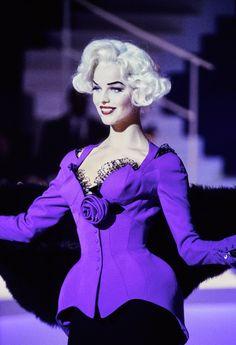 Mugler Fall 1995 Couture Fashion Show - Eva Herzigova