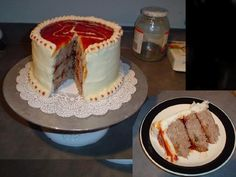 Transform meatloaf into a cake. | 21 Totally Sneaky Food Pranks For April Fools' Day