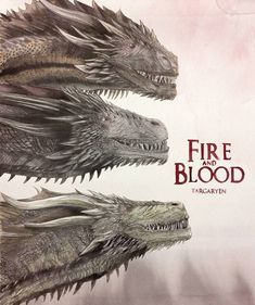 Rhaegal, viserion and drogon. Fire and blood Drogon Game Of Thrones, Arte Game Of Thrones, Game Of Thrones Dragons, Game Of Thrones Quotes, Game Of Thrones Funny, Got Dragons, Mother Of Dragons, Game Of Throne Poster, Daenerys Targaryen