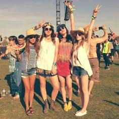 festival friends - summertime shorts, big tanks and shades :)