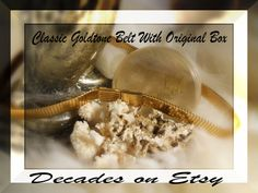 Classic 50s Goldtone Belt With Original Box Very by justjunkin2, $22.99