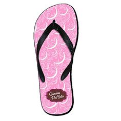 GAMMA PHI BETA MASCOT COLOR FLIP FLOPS *** Continue to the product at the image link.