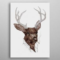 Smoking Buck Art Print by Animal Crew - X-Small Thug Life, Giraffe, Moose Art, Art Prints, Metal, Animals, Smoking, Posters, Graphics