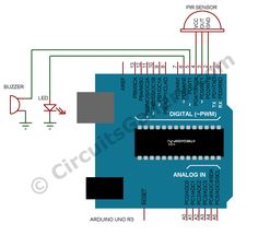 PIR Motion Sensor LCD Screen Arduino Uno Code