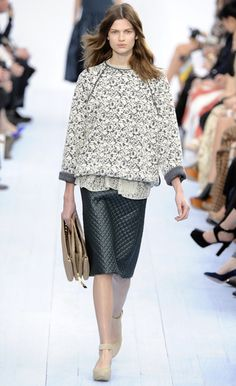 Leather pencil skirt at Chloe. love pencil skirts always will be stylish