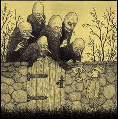 Welcome to John Kenn Creepy Drawings, Dark Art Drawings, Arte Horror, Horror Art, Dark Art Illustrations, Illustration Art, Ps Wallpaper, Arte Indie, Arte Obscura