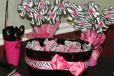 Image detail for -Hot Pink and Zebra print Baby Shower Baby Shower Fun, Girl Shower, Baby Shower Parties, Baby Shower Gifts, Zebra Print Party, Zebra Birthday, Birthday Ideas, 55th Birthday, Birthday Parties