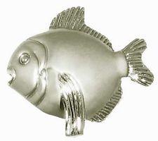 "Lot of 25 Nickel Finish 1 1/2"" Cabinet Knobs Fish-BN"