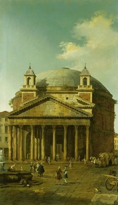Canaletto (Venice 1697-Venice 1768), The Pantheon, 1742, part of a set of five Roman view. Oil on canvas, 183.5 x 105.7 cm, RCIN 405073, Royal Collection Trust/ © Her Majesty Queen Elizabeth II 2016