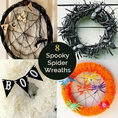 8 Spooky Spider Halloween Wreaths