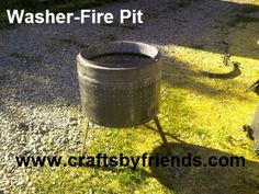 How to make a Fire PIt out of a washing machine.