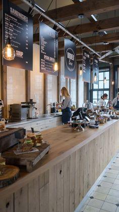 Counter – Wonder's To Go Zaandam Counter – Wonder's To Go Zaandam Opening A Coffee Shop, Coffee Shop Bar, Coffee Shops, Coffee Mugs, Bakery Interior, Restaurant Interior Design, Cafe Interior Vintage, Pizzeria Design, Deco Cafe