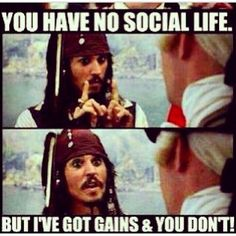 Oh Snap! Tell him Captain Jack Sparrow! Lol Having a fit and fit body is Fitness Memes, Fitness Goals, Funny Fitness, Fitness Nutrition, Nutrition Education, Gym Fitness, Michelle Lewin, Workout Memes, Gym Workouts