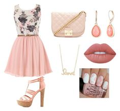"""""""Easter """" by poa614 ❤ liked on Polyvore featuring Charlotte Russe, Forever 21, Vintage America, Sydney Evan and Lime Crime"""
