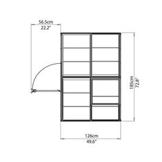 Visit The Home Depot to buy Palram 6 ft. x 4 ft. Polycarbonate Greenhouse, Polycarbonate Panels, Commercial Greenhouse, Home Depot, Floor Plans, Silver, Money
