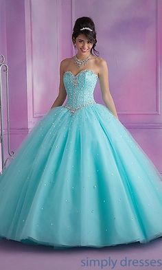 Mori Lee Strapless Quinceanera Gown