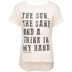 Lässiges weißes T-Shirt von Catwalk Junkie. Der Print auf der Vorderseite und der große Rückenausschnitt machen das T-Shirt zu einem besonderen Hingucker!
