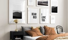 Choose the perfect prints for every room of your home with this guide from Desenio! Give each room it's own style Art Deco Bedroom, Bedroom Decor, Wall Decor, Teen Bedroom, Bedroom Ideas, Home Staging, Desenio Posters, Inspiration Wall, Interior Inspiration