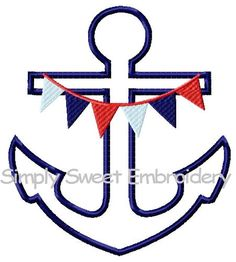Anchor 2 Machine Embroidery Applique by SimplySweetEmbroider, $4.00