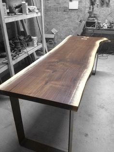 Live edge Black Walnut dining table by BoisDesign on Etsy, $1995.00