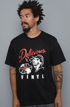 Delicious Vinyl Classic Logo Men/'s T-Shirt